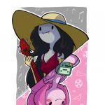 Chicle y Marceline Hora de aventuras (P.Chicle)