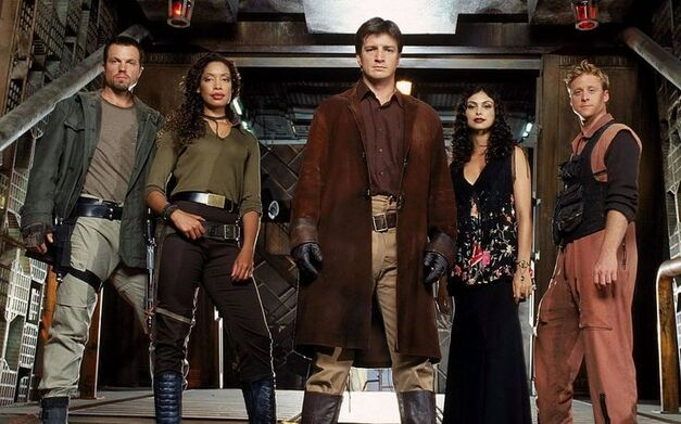 Fillion and the cast of Firefly which gained cult hit status despite lasting only 13 episodes