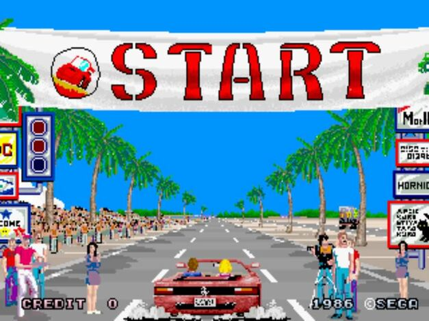 arcade game championship editions outrun, out run sega classic