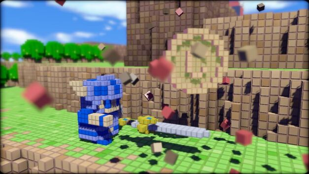 A screenshot of 3D Dot Game Heroes.