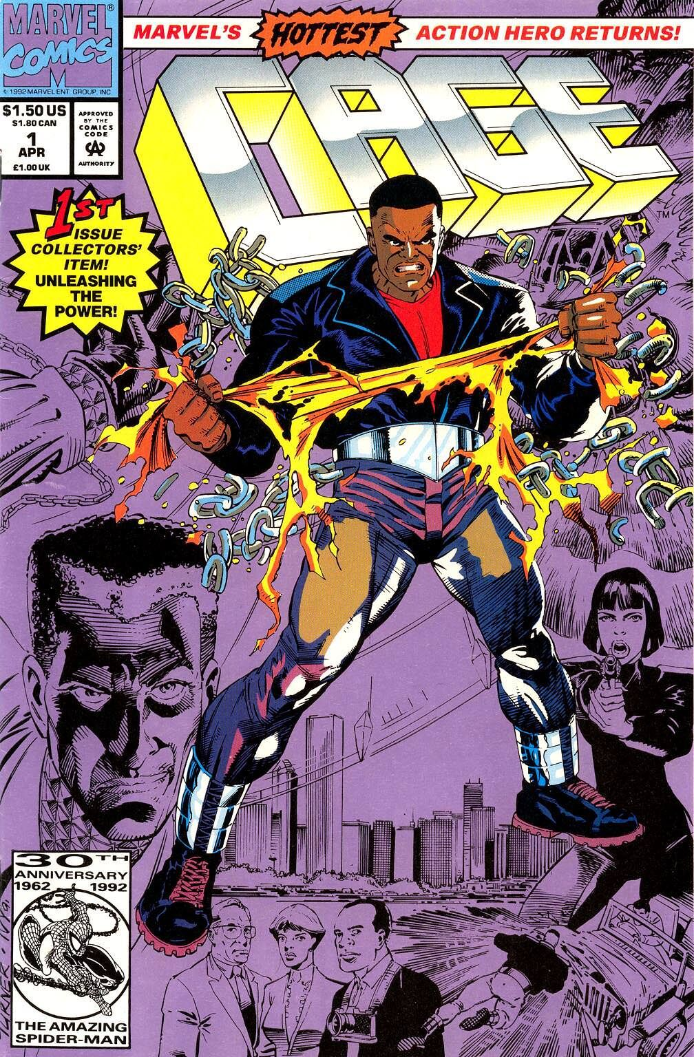 New and improved updated Luke Cage for the 90s with 90s haircut and leather jacket