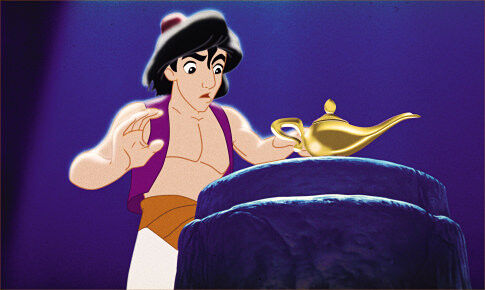 aladdin discovers the magic lamp