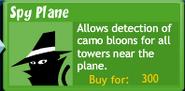 BTD4 Spy Plane upgrade button