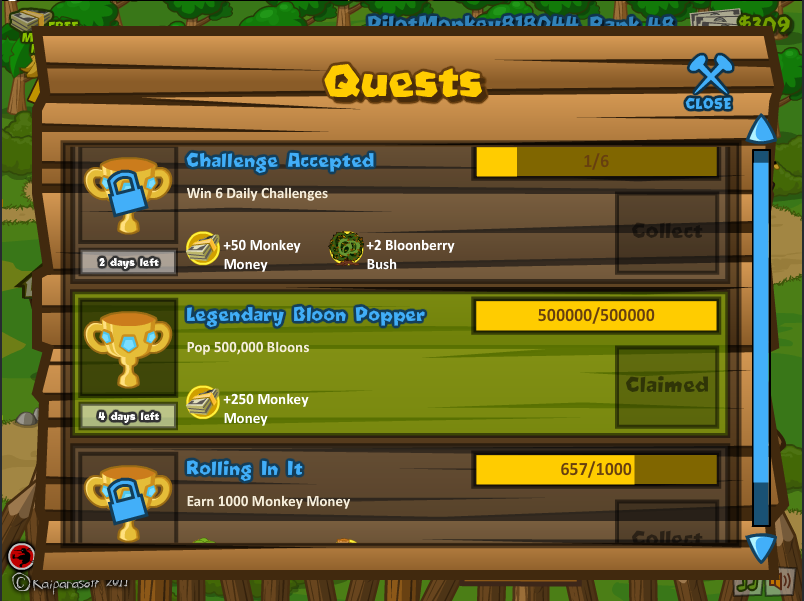 Quests Btd5 Bloons Wiki Fandom Powered By Wikia