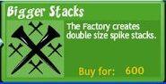 Bigger stacks