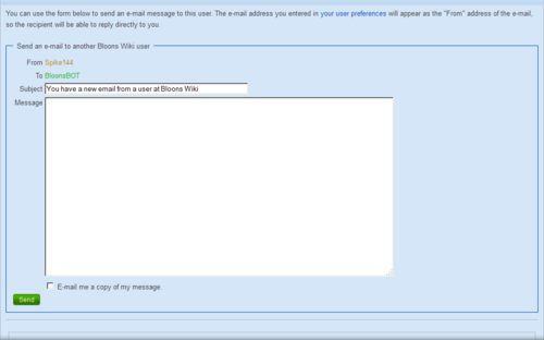 E-mail form