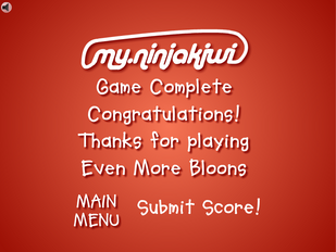 Even more bloons win screen