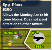 Spy plane upgrade button btd5