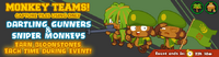 Monkey Teams with Sniper Monkeys and Dartling Gunners on browser