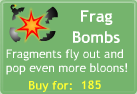 BTD3 Frag Bombs upgrade button