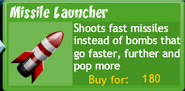 BTD4 Missile Launcher upgrade button