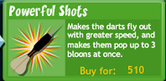 BTD4 Powerful Shots upgrade button