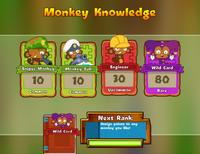 Monkey Knowledge cards turned