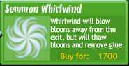 Summon whirlwind upgrade buttonBTD4