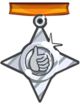 Hard medal