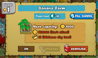 Banana Farm level 2 display