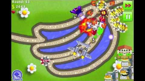 Bloons TD 4 iPhone iPod - PERFECT (no miss) - Track 2 Go Bananas - Hard - Walkthrough Commentary