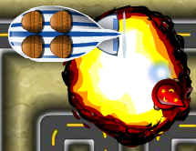 Fireball attack explosion