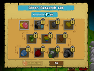 Bloon Research Lab research none unlocked