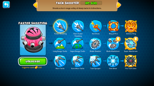 Tack Shooter Upgrades of BTD 6