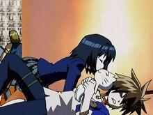 Kyoko Trying to Kiss Train