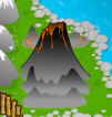 Volcano tile flash