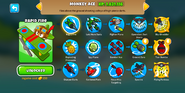 Monkey Ace Menu BTD6