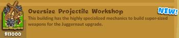 Oversize Projectile Workshop