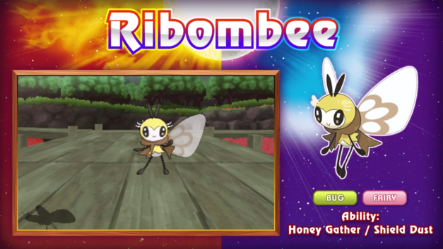 Pokemon Sun and Moon New Pokemon Monsters Ribombee