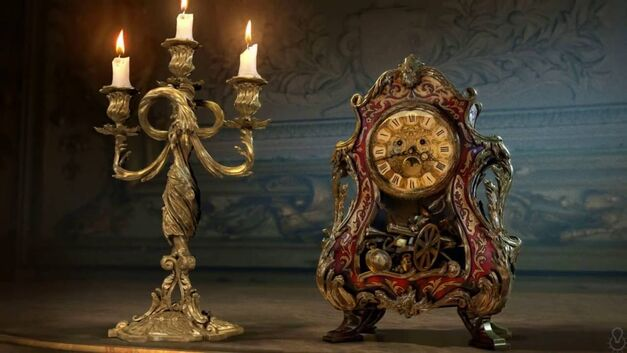 Beauty and the Beast Cogsworth Lumiere