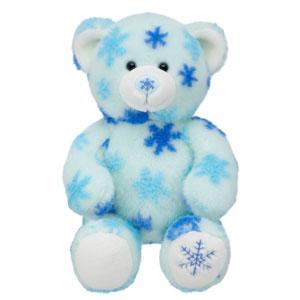 Winter hugs bear