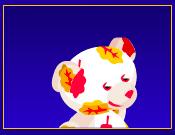 Virtual autumn hugs bear