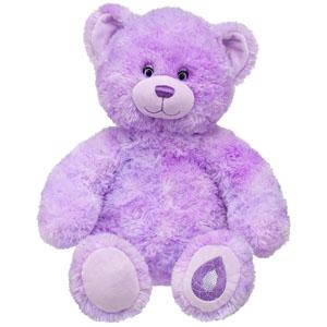 Adoring amethyst teddy