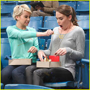 Riley-robyn-ketchup-fight-baby-daddy-spring-finale