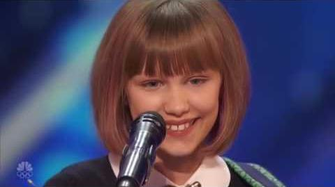 Grace Vanderwaal (Mothra) At The America's Got Talent Auditions