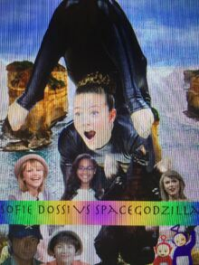 Sofie Dossi VS SpaceGodzilla Poster