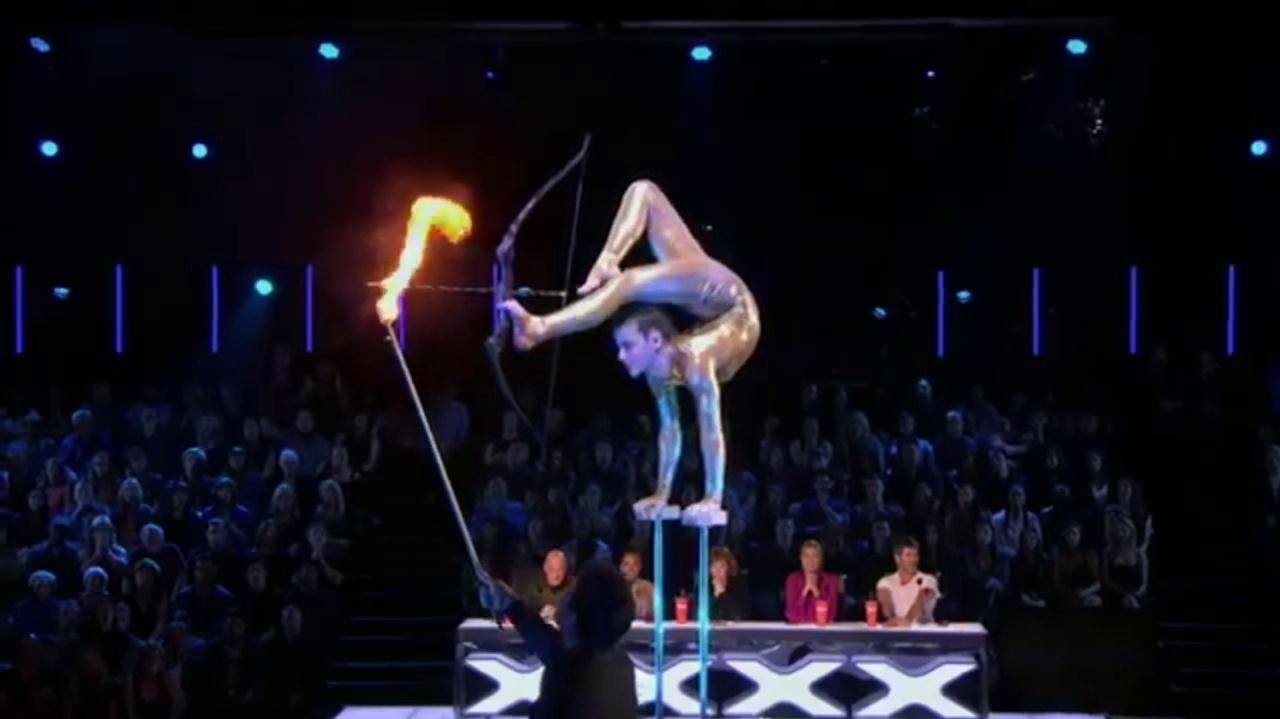 Sofie Dossi (Godzilla) At The America's Got Talent Judge Cuts