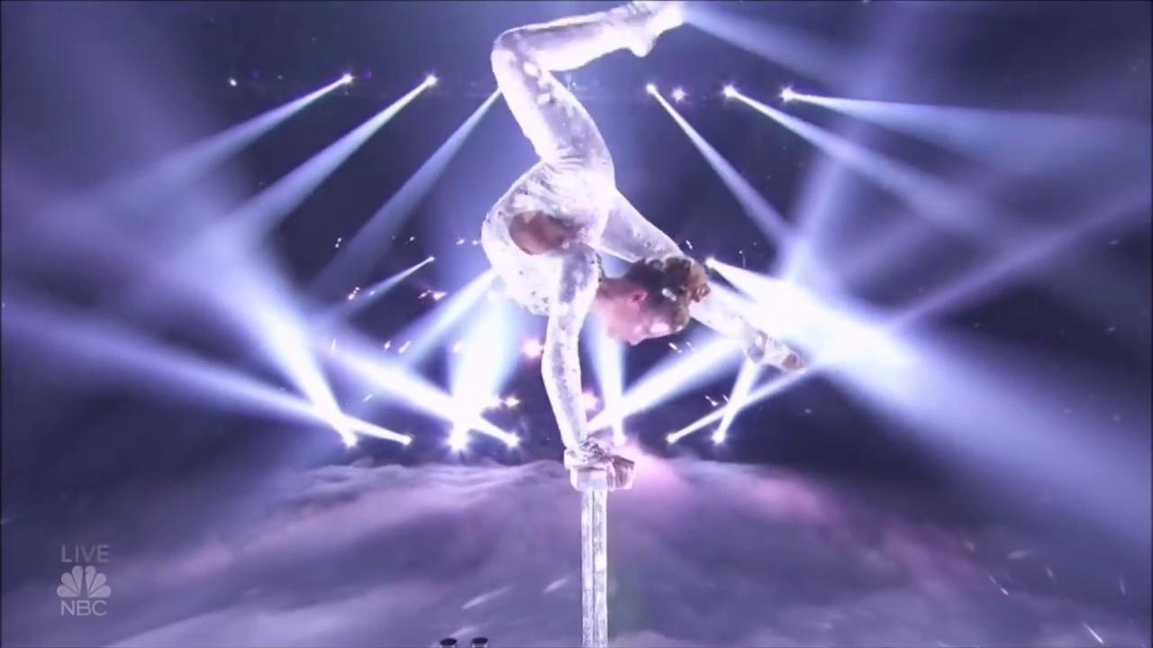 Sofie Dossi (Godzilla) At The America's Got Talent Semi Finals