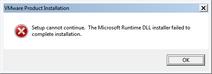 VMware-player-15.0.4-Error