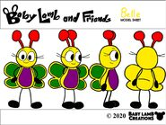 Belle Butterfly 2020 Model Sheet