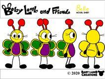 Belle Butterfly 2020 Model Sheet