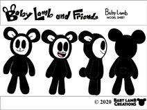 Baby Lamb Model Sheet 2020