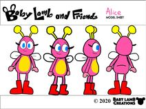 Alice Pennington Model Sheet