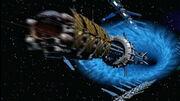 Cortez passiert das Hyperraumsprungtor von Babylon 5