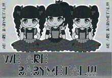 We Are Babymetal front