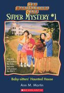 Super Mystery 1 Baby-sitters Haunted House cover stock image