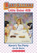 Baby-sitters Little Sister 28 Karens Tea Party ebook cover
