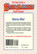Baby-sitters Little Sister 42 Karens Pizza Party back cover