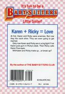Baby-sitters Little Sister 15 Karens in Love back cover