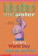 Baby-sitters Little Sister 03 Karens Worst Day 2001 reprint cover